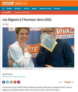 Les liégeois à l'honneur dans GAEL